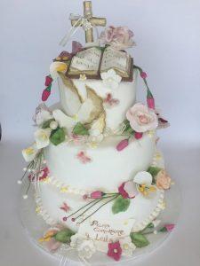 Esempio torta cake design per comunioni