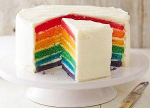 La Rainbow Cake