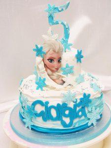 Torta Cake design compleanno bambina 5 anni